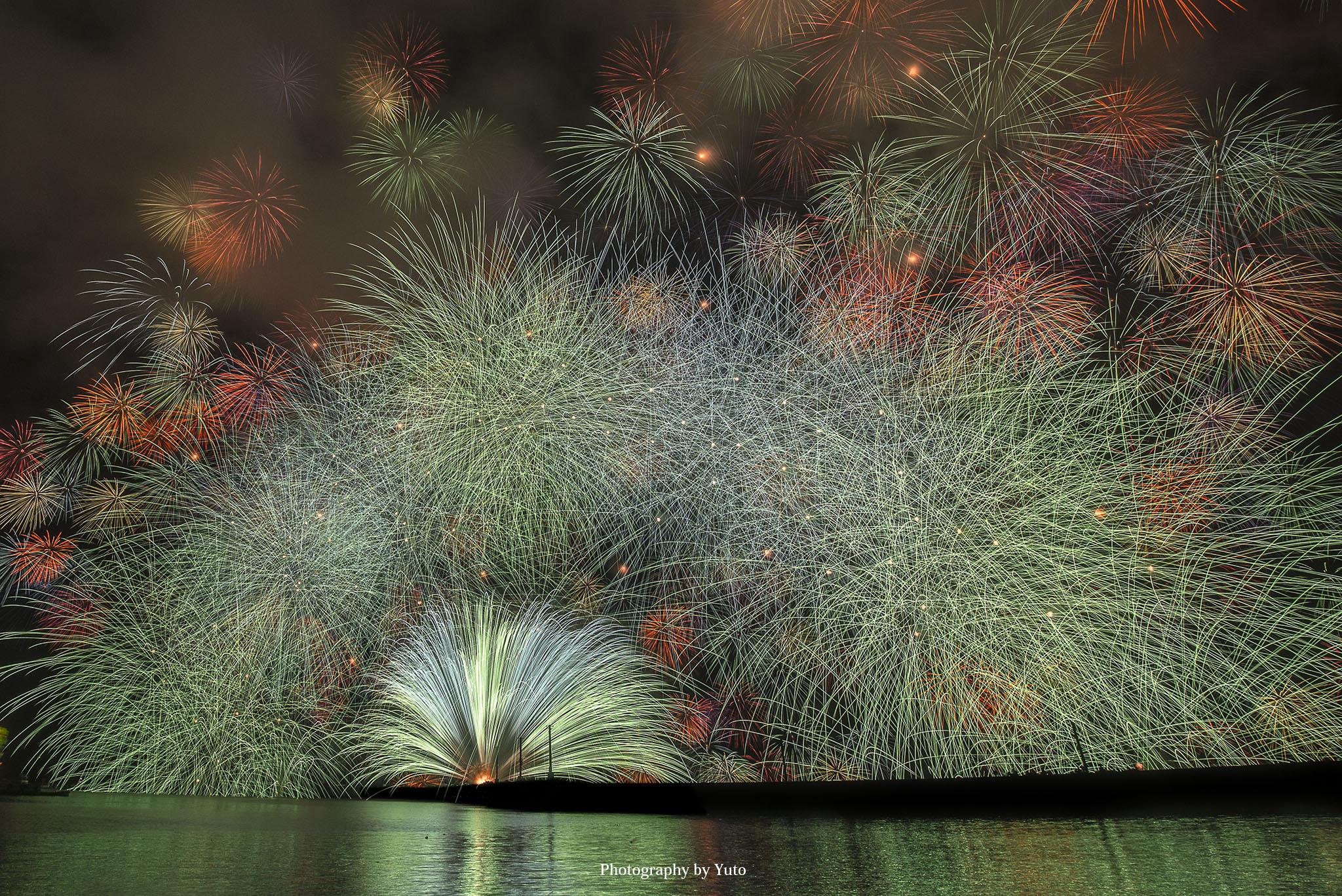 きほく燈籠祭 花火の撮影スポット2箇所・彩色千輪の撮り方