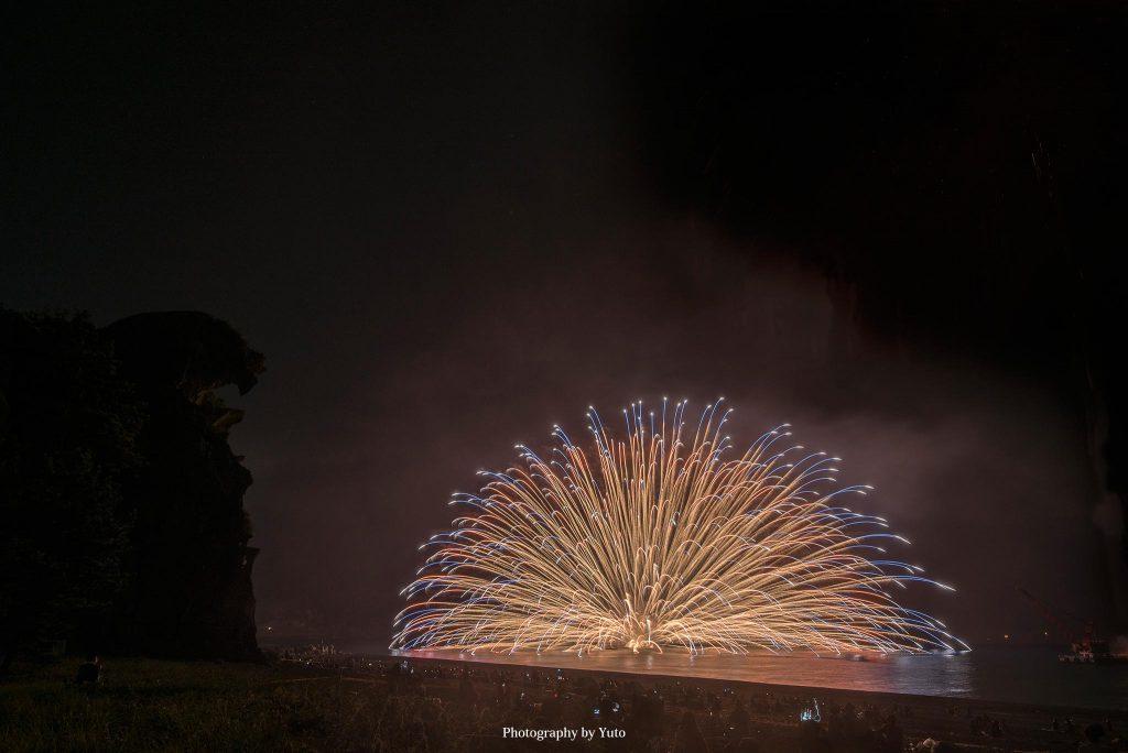 三重県熊野市 熊野大花火大会 水上花火 2019/8/26