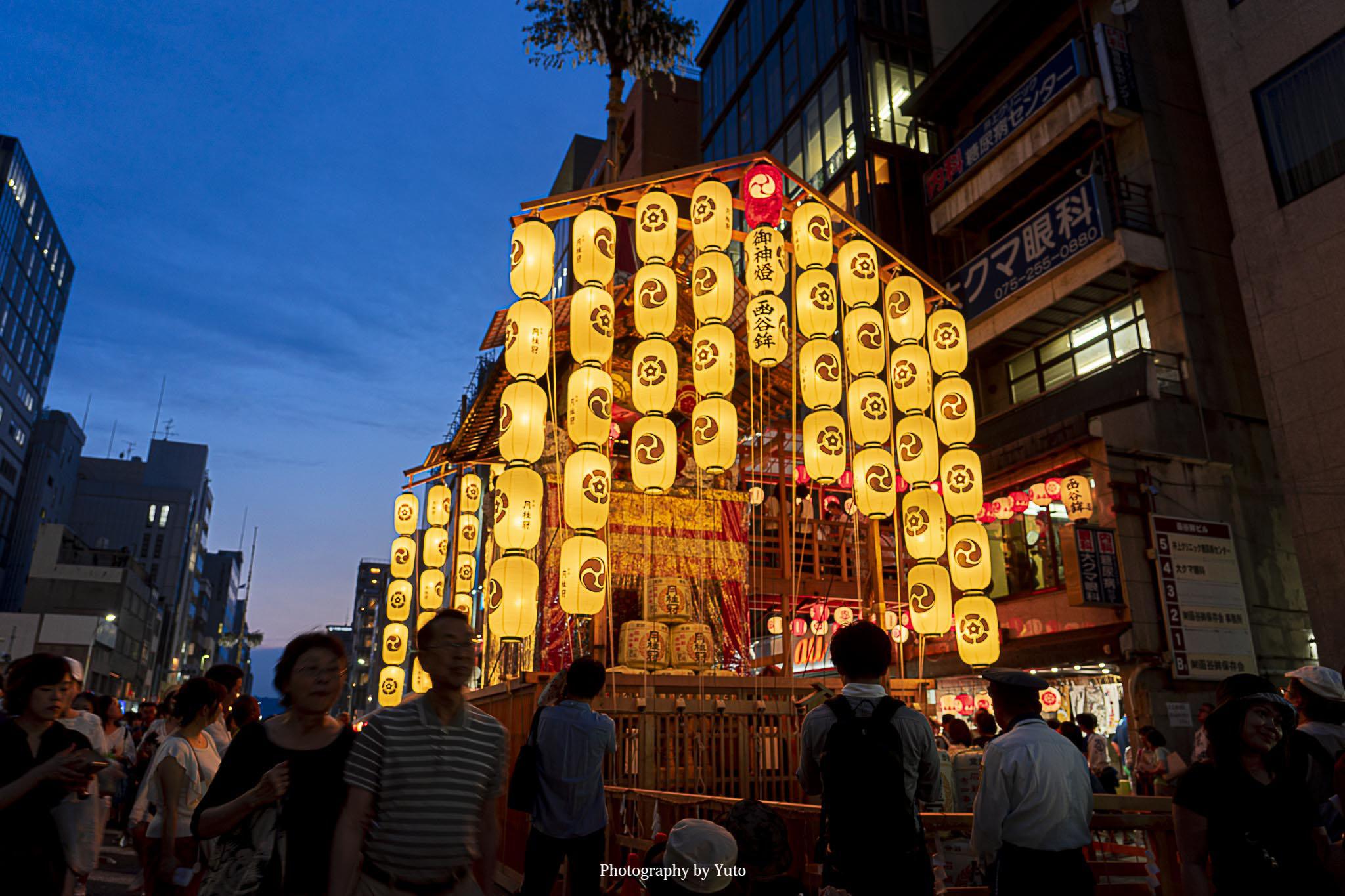 京都 祇園祭(宵山)を手持ち撮影してきた