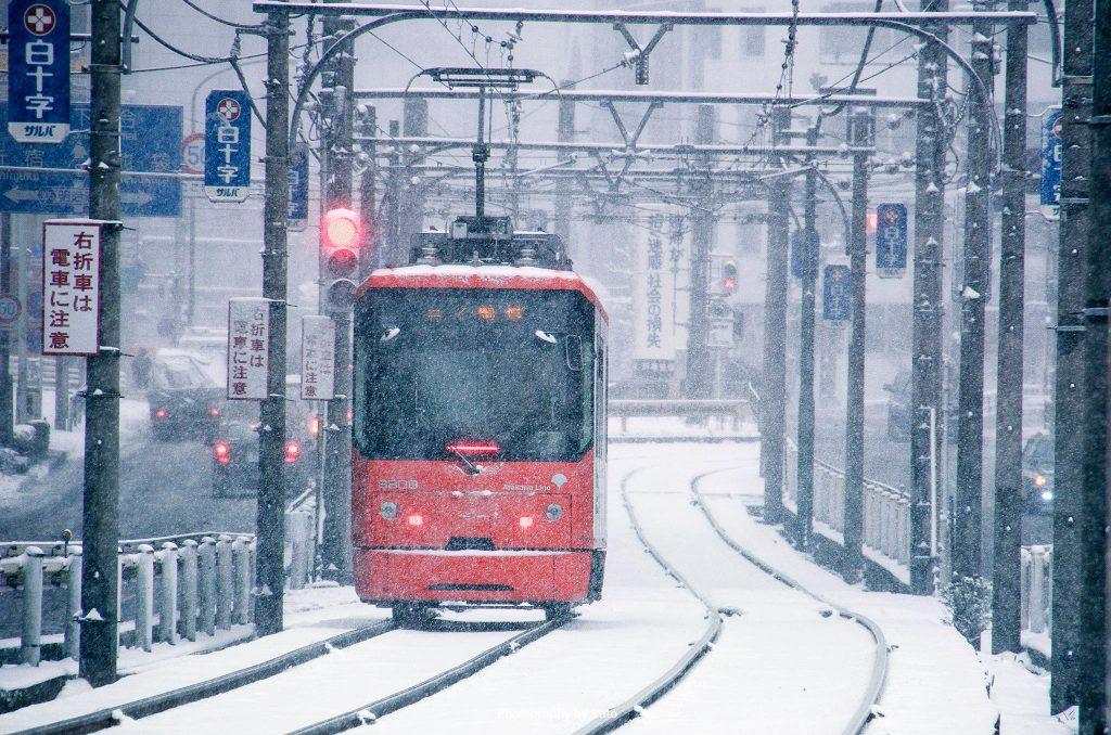 東京都新宿区 都電荒川線 面影橋 2014/2/8