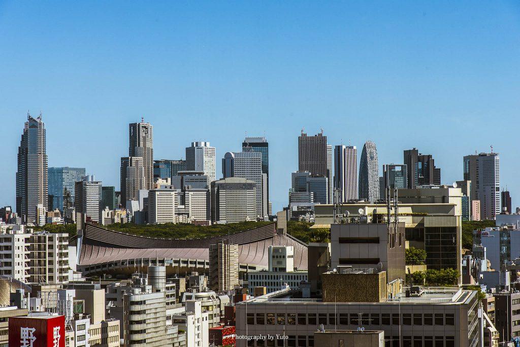 渋谷より新宿高層ビル群 150714