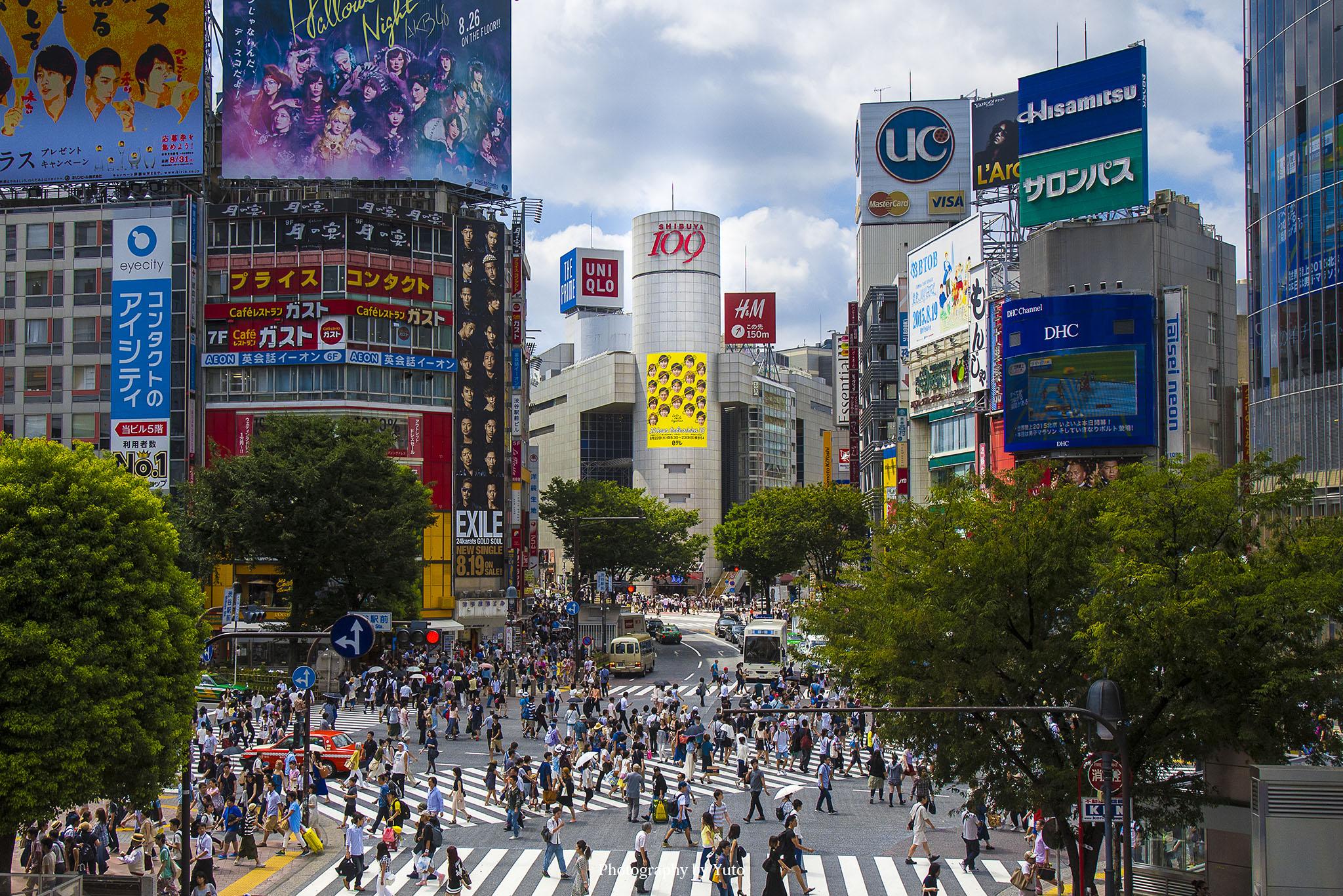 渋谷の撮影スポット ちょっとの散歩でかなり撮影が楽しめる