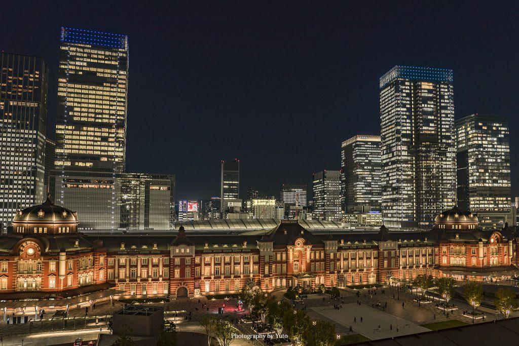 東京都千代田区 新丸ビルからの東京駅 2019/11/1