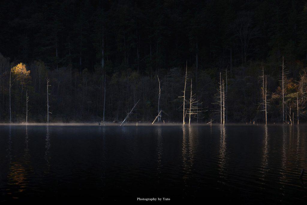 長野県王滝村 自然湖 2020/10/31